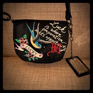 Ed Hardy Lucky Small messenger bag, new with tags